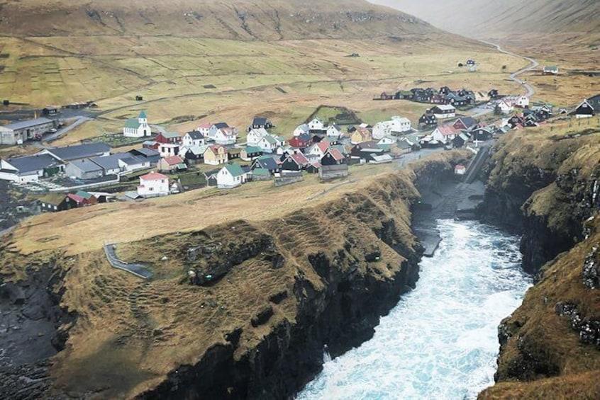 Show item 1 of 4. Waterfall Tour in Faroe Islands