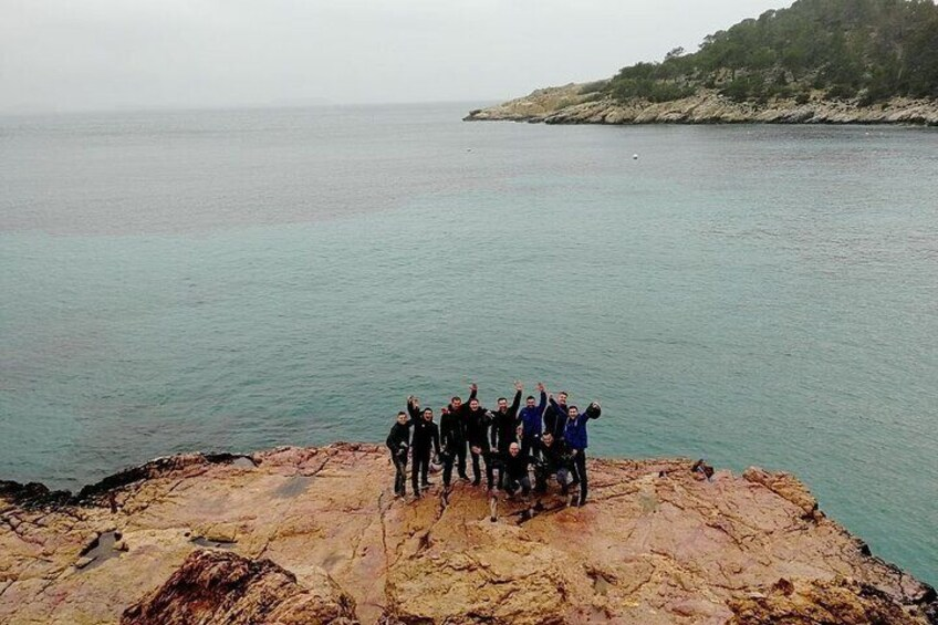 Vespa Tour Cala Salada. Ibiza.