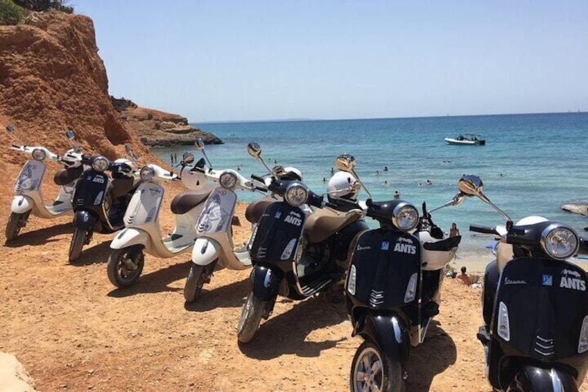 Vespa Tour Sa Caleta, Ibiza
