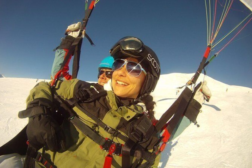 Show item 4 of 17. Paragliding winter