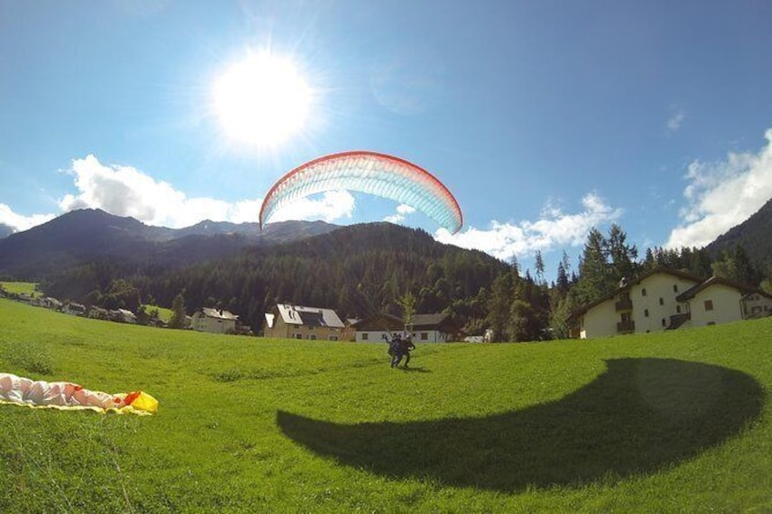 Show item 2 of 17. Landing in Klosters