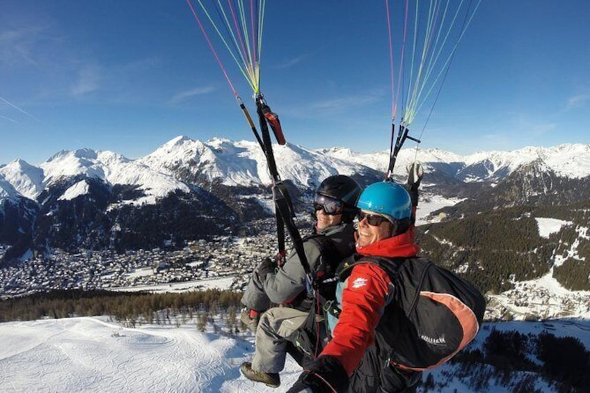 Show item 10 of 10. Davos absolutely free flying Paragliding Tandem Flight 1'000 meters high