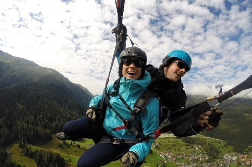 Show item 5 of 17. Davos absolutely free flying Paragliding Tandem Flight 1'000 meters high