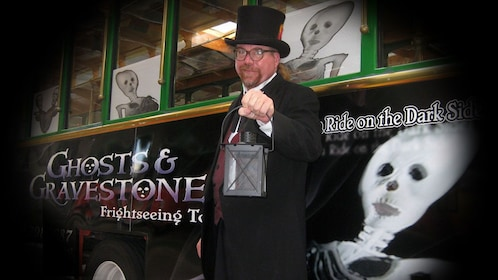 Tour operator for the ghosts and gravestone tour in St Augustine