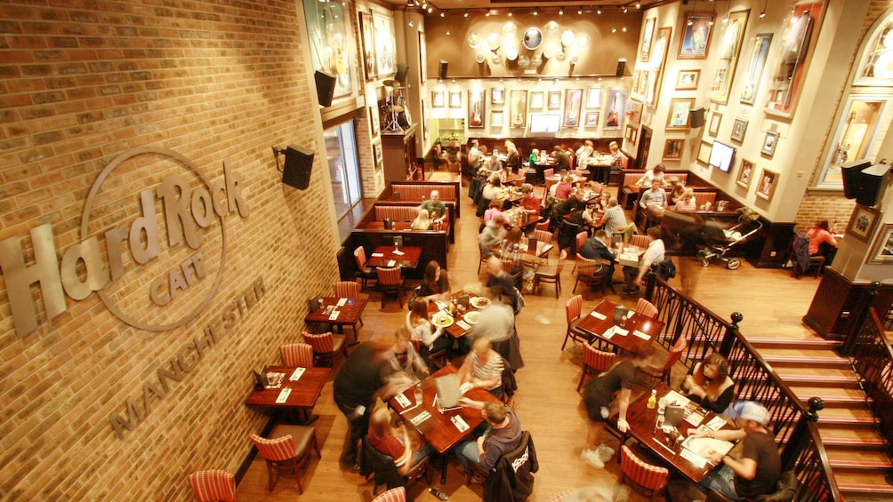 Show item 1 of 6. interior of hard rock cafe in Manchester
