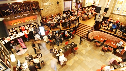 interior of hard rock cafe in Manchester