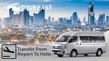 Jaettu sukkulabussi: Bangkokin Don Mueangin lentoasema (DMK) – Cha-am