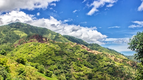 Landscape of Blue mountains in Jamaica