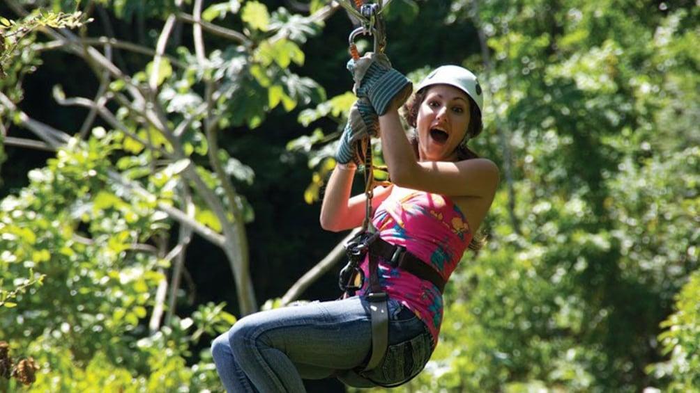 Show item 1 of 7. ziplining woman in jamaica