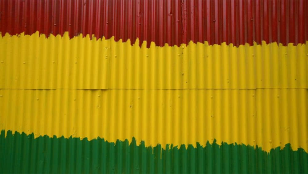 Show item 3 of 10. Red yellow and green the colors the reggae artist and or rastafarian use for peace in Jamaica