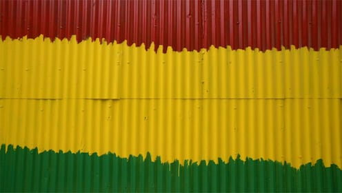 Red yellow and green the colors the reggae artist and or rastafarian use for peace in Jamaica
