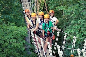 Fully Guided Zip line Canopy Tour through KY River Palisades Lexington KY