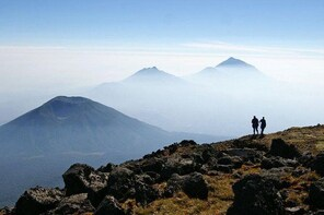 Bisoke Volcano Hike & Twin Lakes or Cultural Village Tour