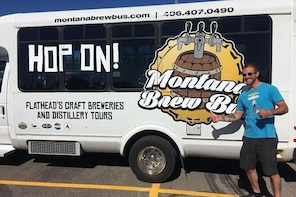 HOP ON-Montana Brew Bus Tour-Breweries, Wineries, Distilleries and Cideries
