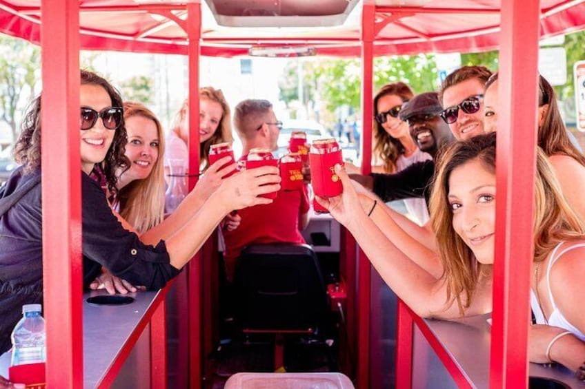 Show item 5 of 8. Trolley Pub Public Tour of Raleigh