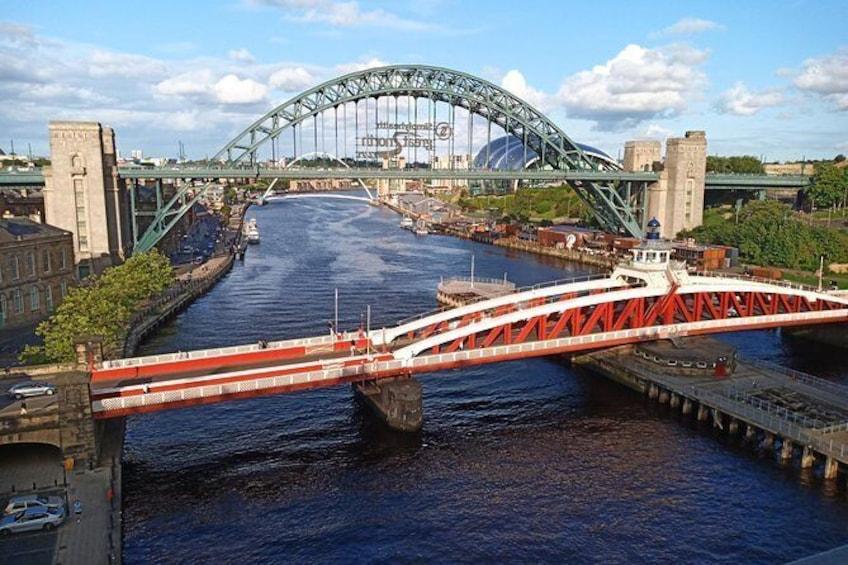 Show item 4 of 7. Some of Newcastle's bridges.