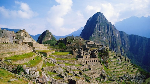 View from the east of the ruins at Machu Picchu