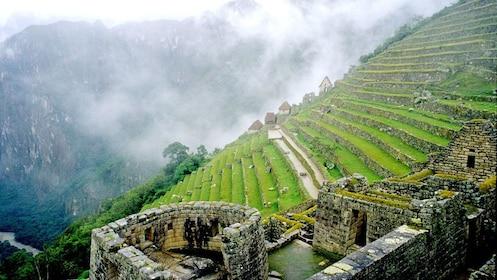 The Temple of the Sun ruin at Machu Picchu