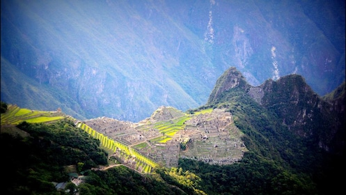 Looking from the west to Machu Picchu