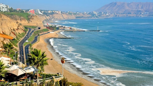 The coastline outside Lima Peru