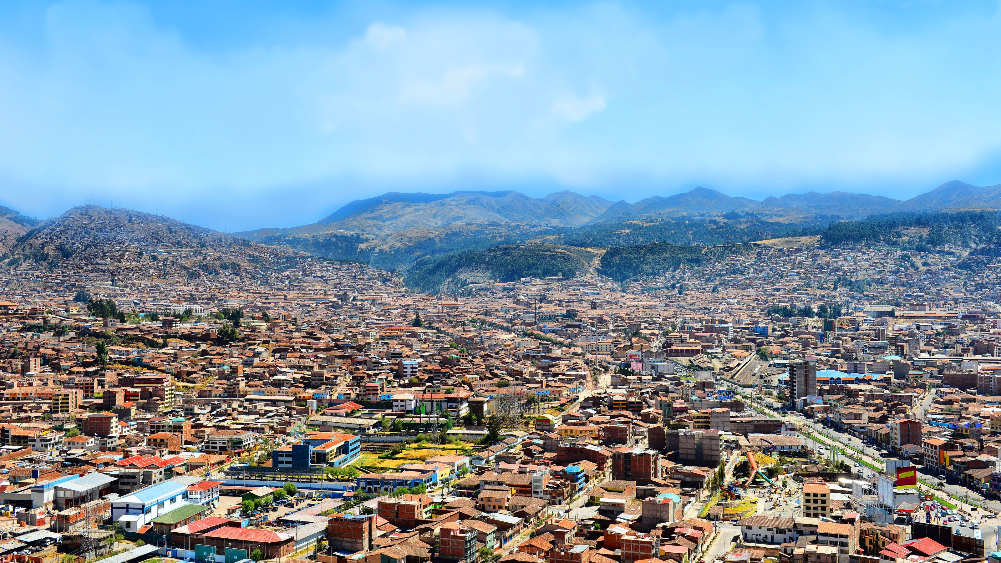 Panoramic shot of the city of Cusco, Peru