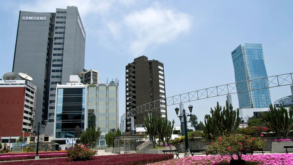 Skyscrapers in the city of Lima
