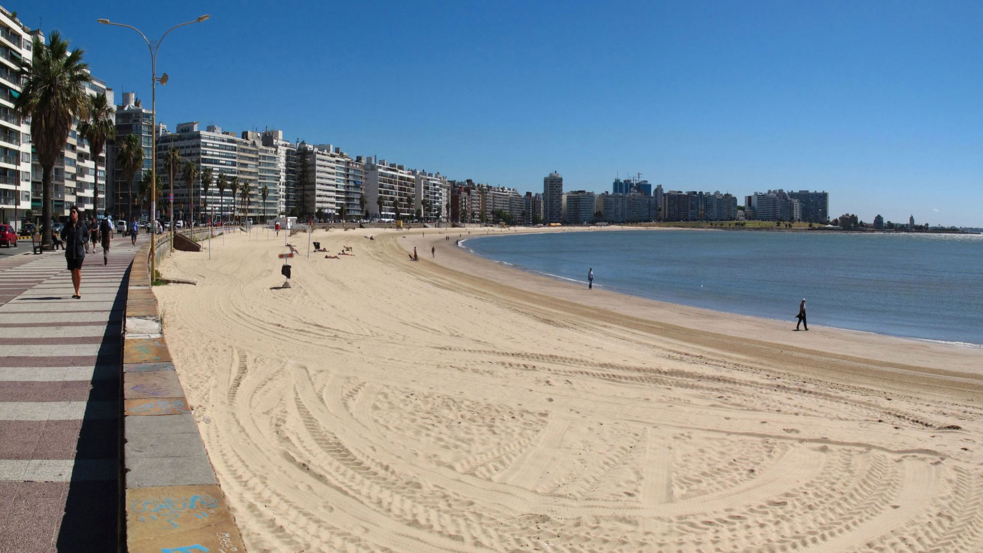 Serene view of the beach in Montevideo