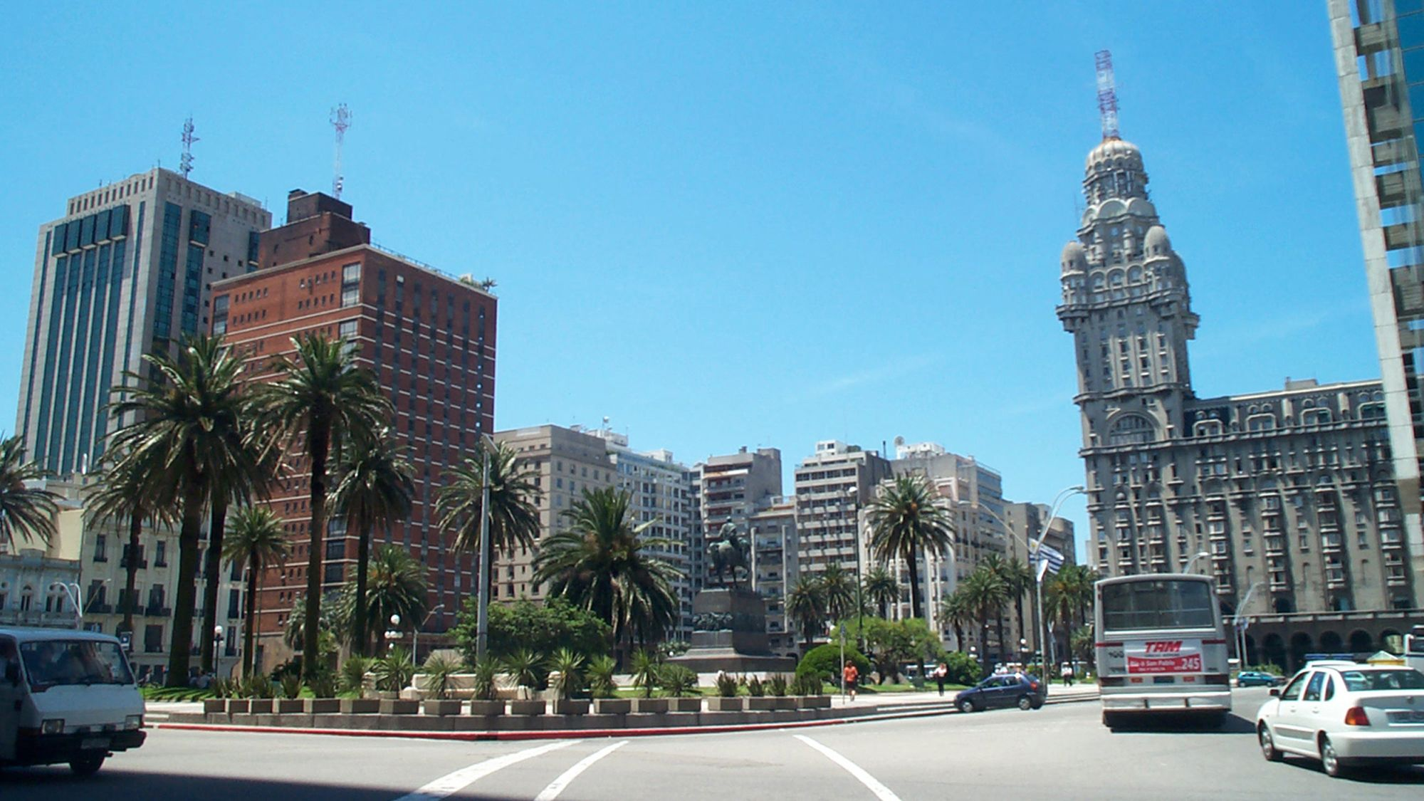 Gorgeous view of the city in Montevideo
