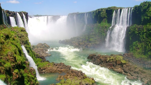 Rapid water from the waterfall in Iguazu