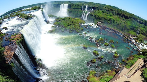 A great view of the Iguazu Falls from Brazil