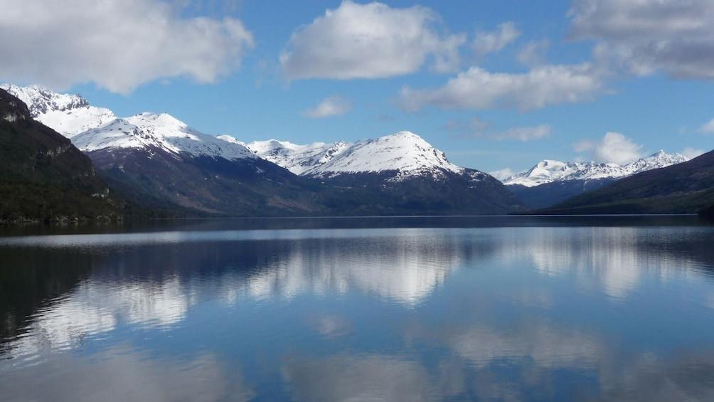 Snow capped Andes surround Tierra del Fuego National Park