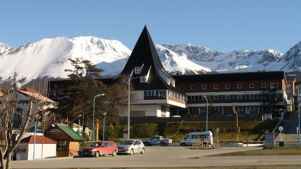 Ushuaia is nestled at the foot of the snowcapped Andes