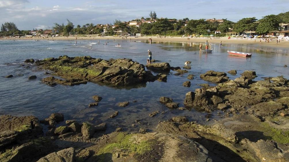 Busy beach in Buzios