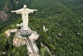 Estátua do Cristo Redentor de trem