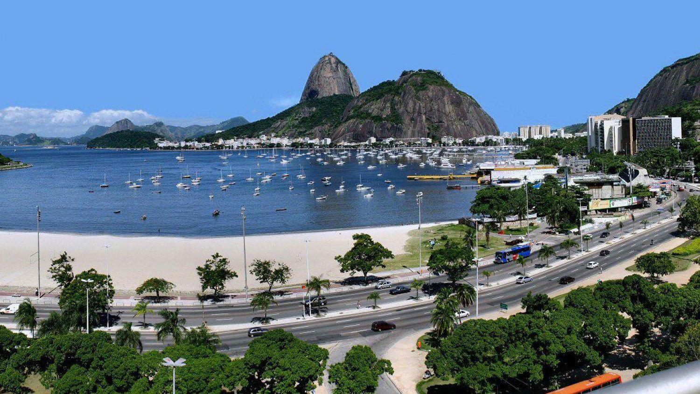 Guanabara Bay and Sugarloaf Mountain in Rio de Janeiro