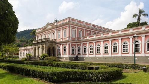 The pink Imperial Museum of Petropolis in Rio de Janeiro