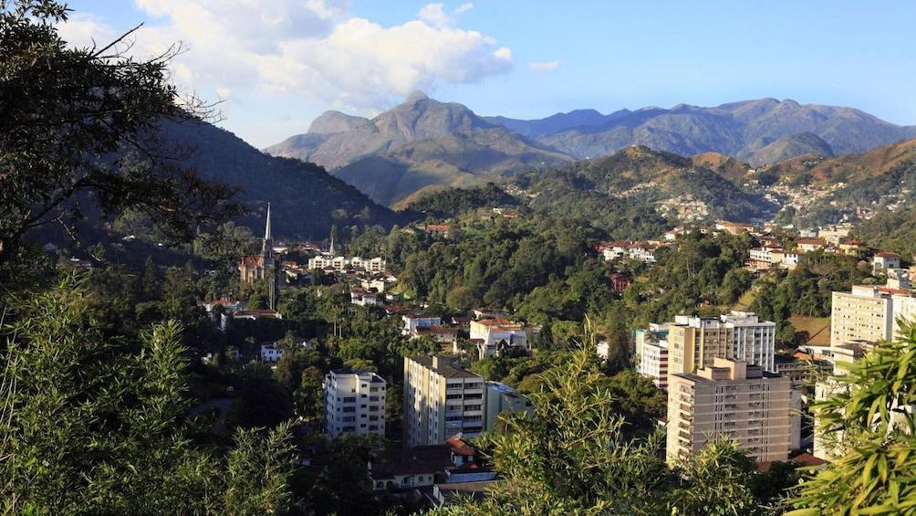 Show item 3 of 10. Petropolis nestld in the forested hills of Serra dos Orgaos in Rio de Janeiro