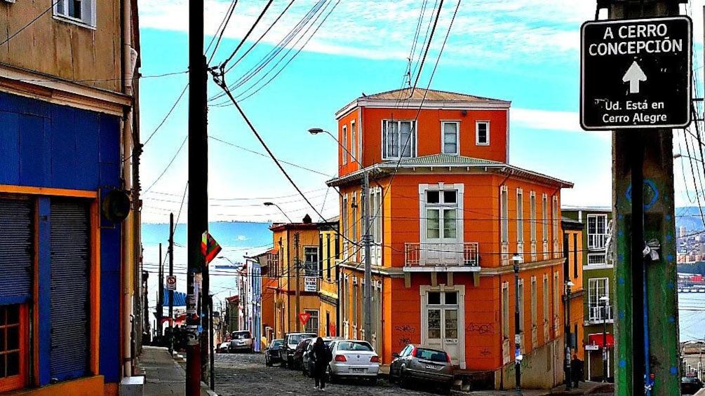 Colorful buildings in Vina del Mar