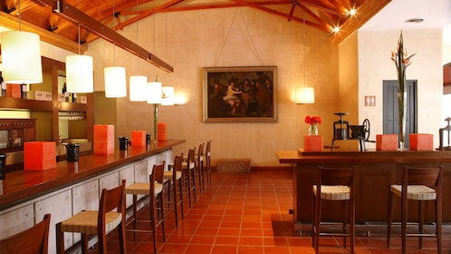 Tasting room at the Concha Y Toro Winery in Santiago