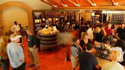 Wine tasting groups at the Concha Y Toro Winery in Santiago