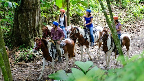 Horseback riders near Arenal