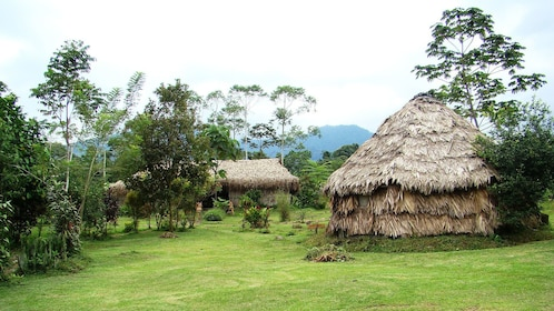 Vilage of straw houses near arenal
