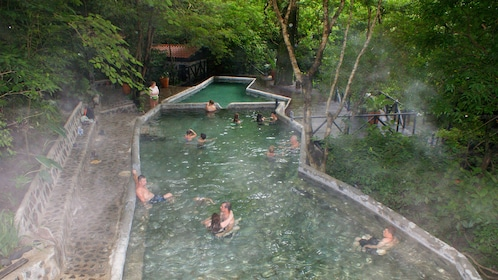 Enjoying the hot springs in Guanacaste
