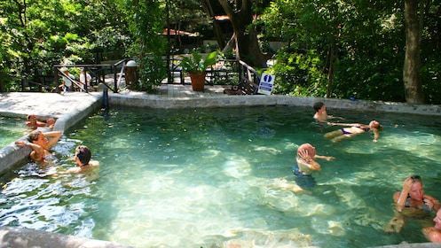 Couples at the hot springs in Guanacaste