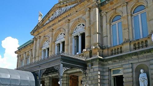 Sculpted facade of the Teatro Nacional in San Jose