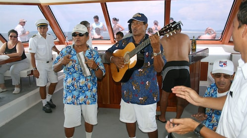 Live music on the boat to Tortuga Island in Costa Rica