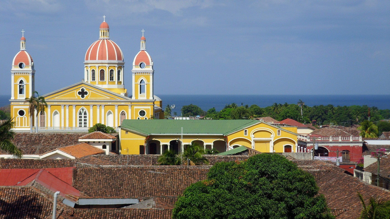 Colorful buildings in Nicaragua