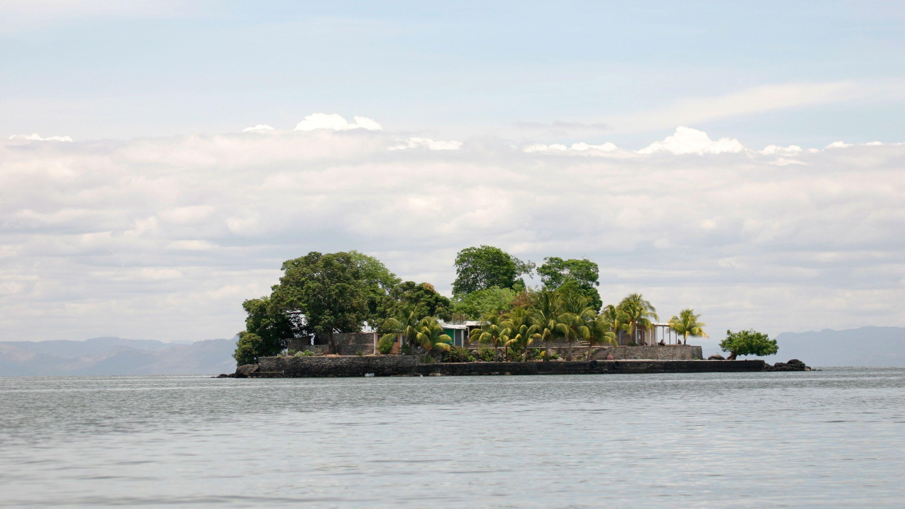 Small island off the coast of Nicaragua