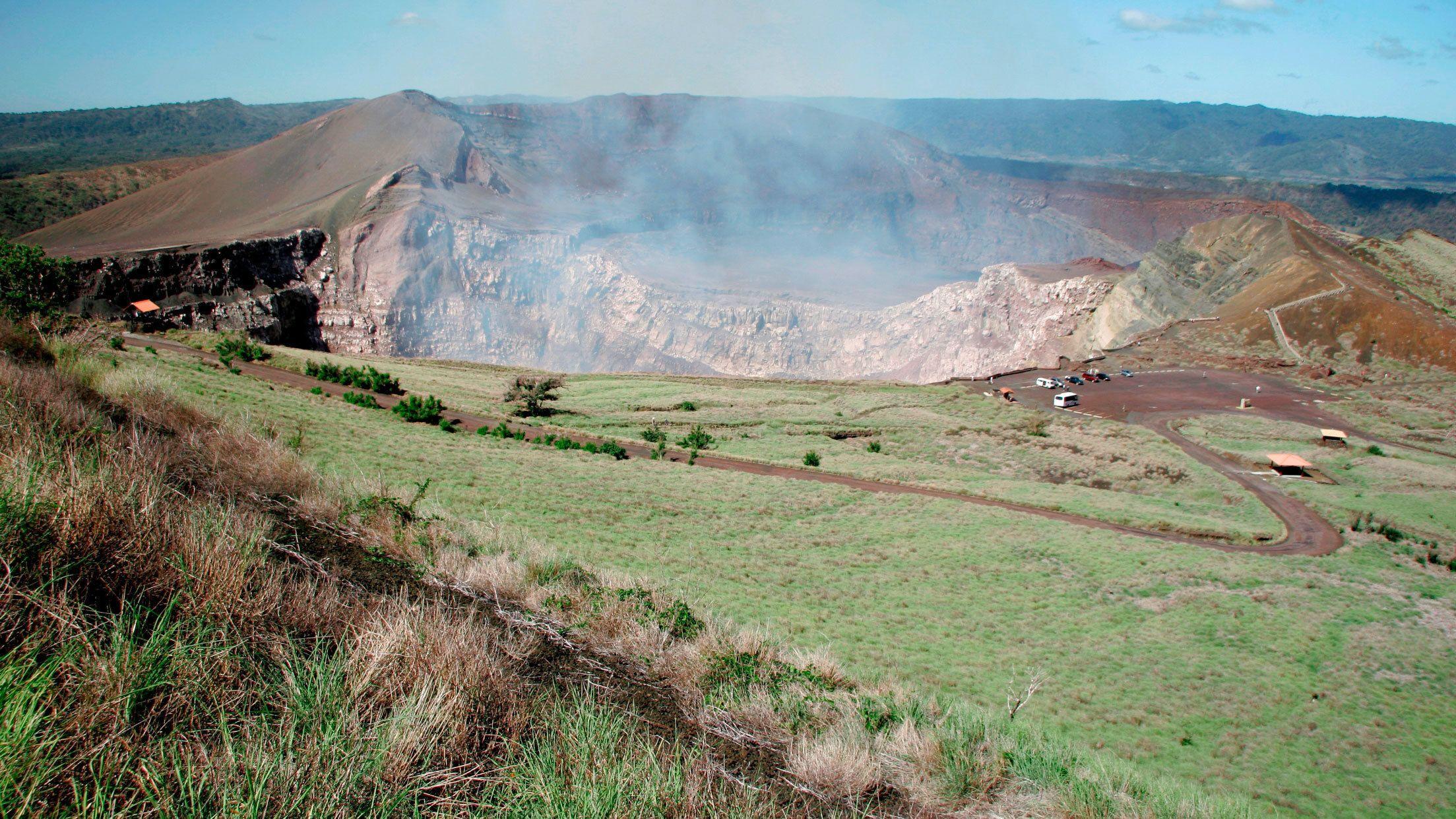 Opening of Santiago Crater in Nicaragua