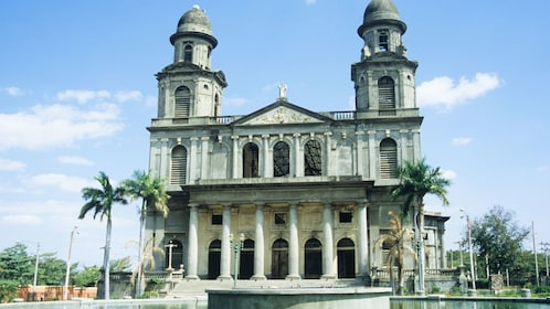 Exterior of the old cathedral of Managua